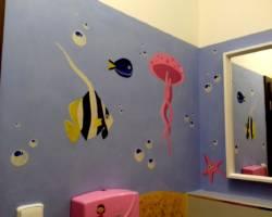 Nástěnná malba Koupelna 003