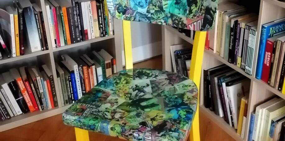 Renovace židle Komiks Hulk