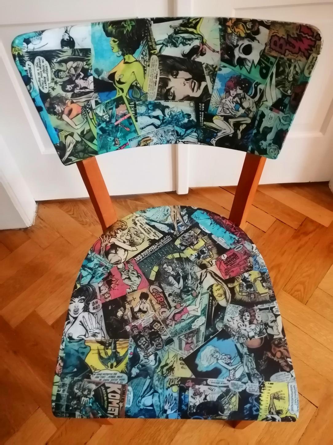 Renovace židle TON Kája Saudek