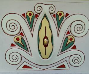 Mánesova fasáda- detail malby