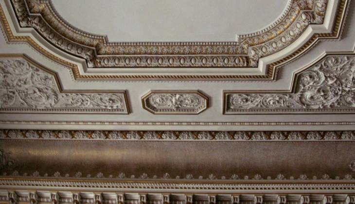 Ceiling restoration, Svetla Nad Sazavou, Czechia 01