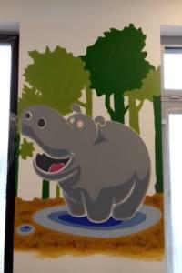 Nástěnná malba Hroch 002