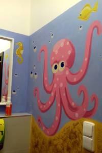 Nástěnná malba Koupelna 001