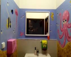 Nástěnná malba Koupelna 002