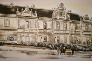 Nástěnná malba- Histor. foto, Hotelový pokoj, Praha 001