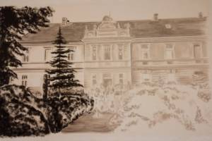 Nástěnná malba, Recepce Hotela, Praha 003
